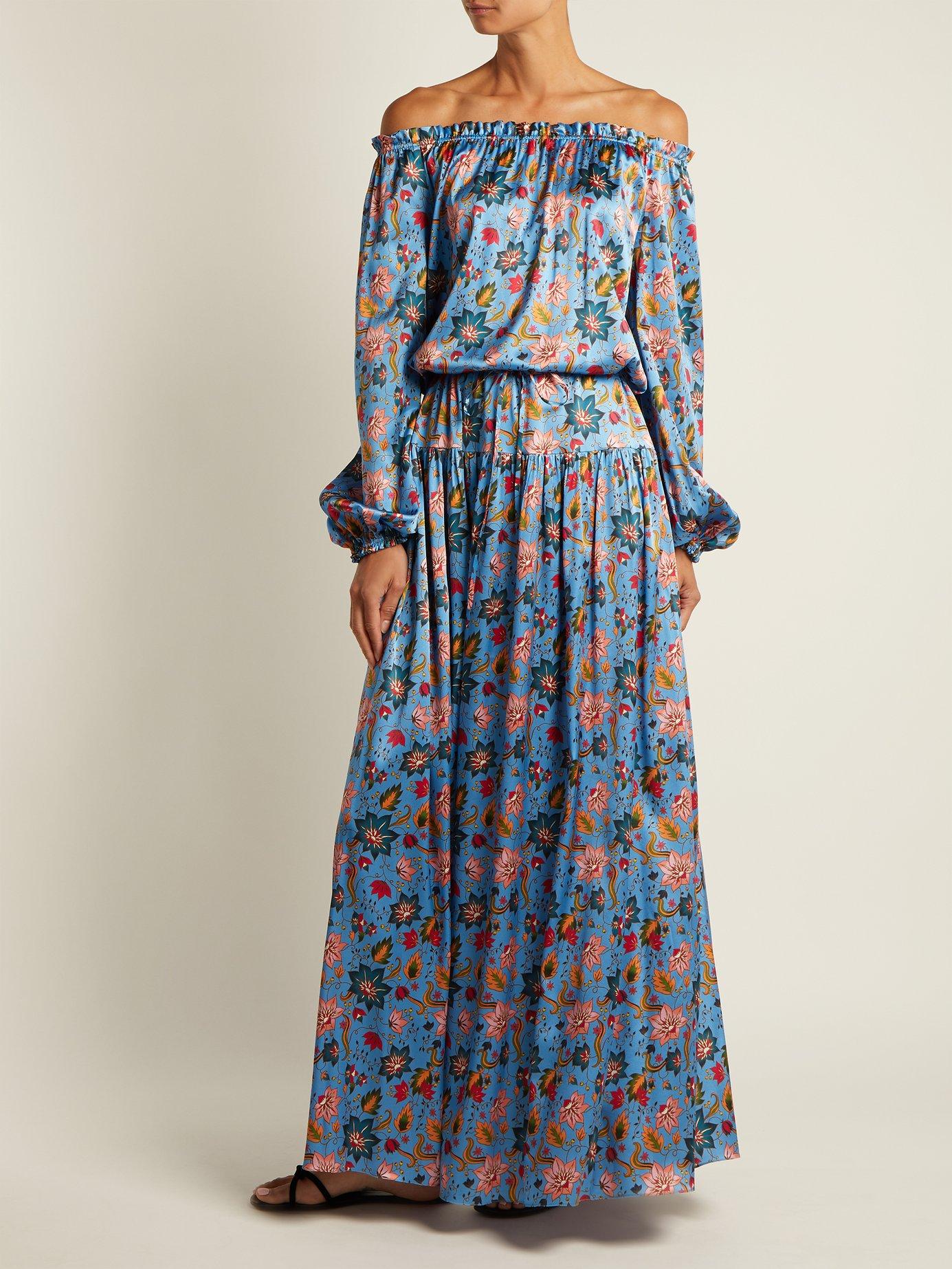 Creek floral-print stretch-silk dress by Adriana Iglesias
