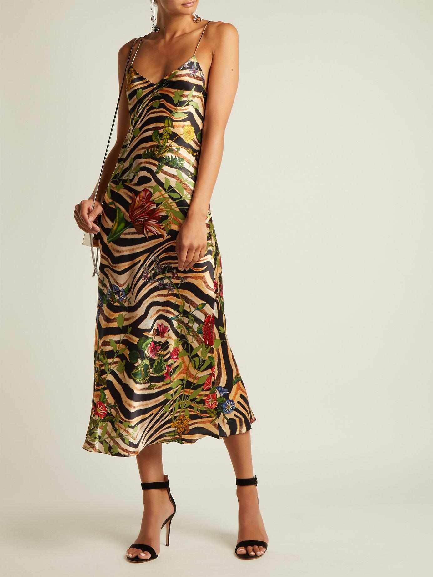 Jadi printed-silk dress by Adriana Iglesias