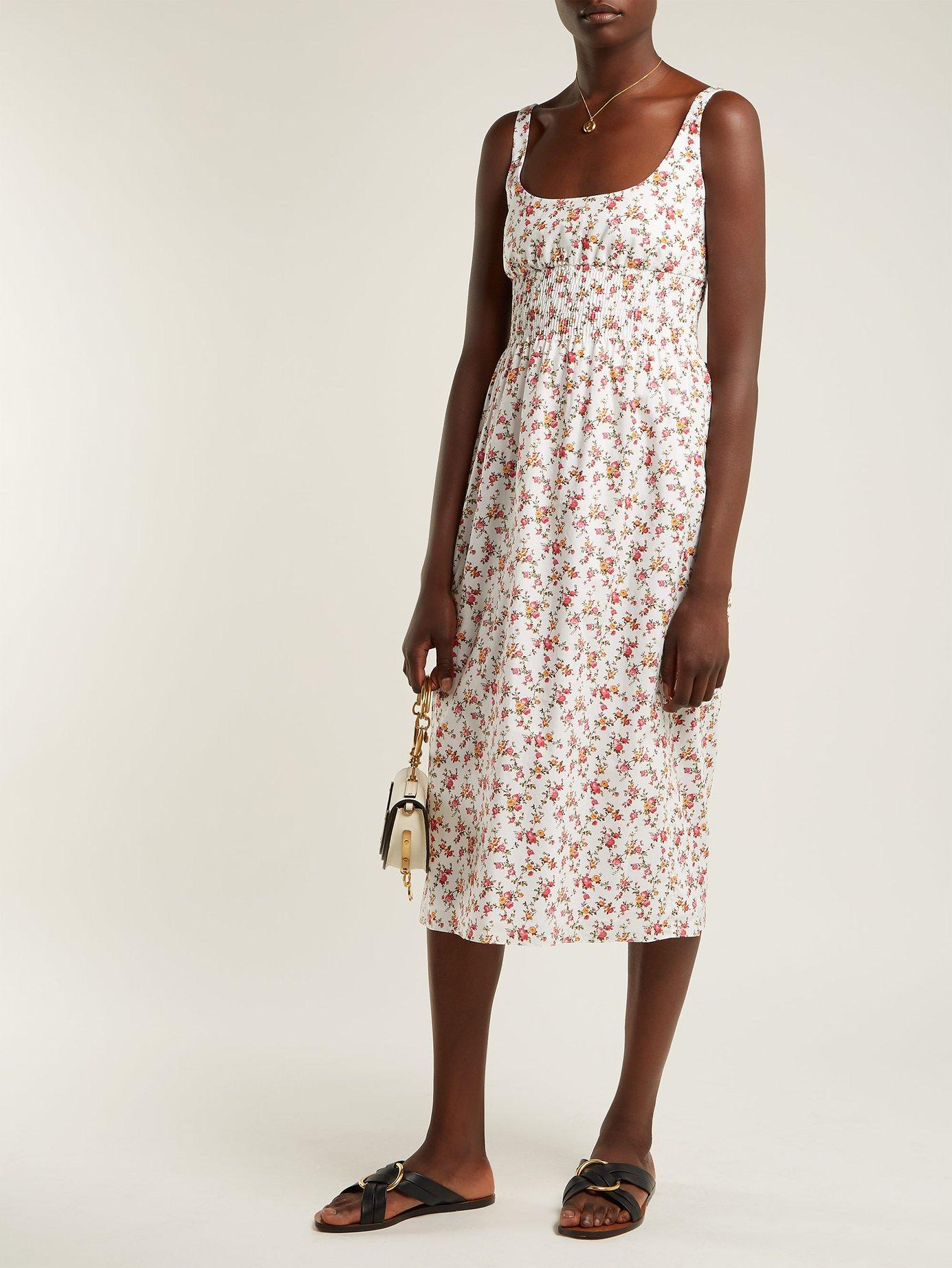 Giovanna floral-print cotton midi dress by Emilia Wickstead