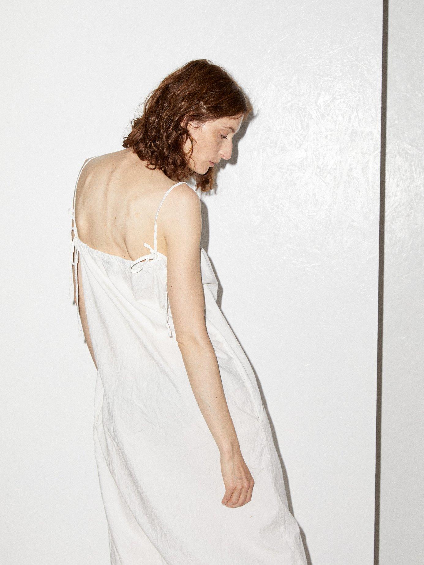 Paper-bag cotton maxi dress by Raey