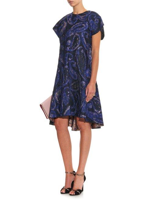 Heros paisley-jacquard dress by Ellery