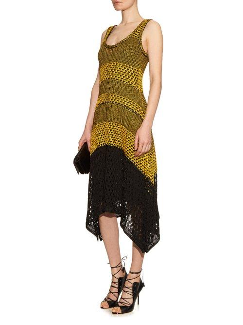 Bi-colour crochet dress by Proenza Schouler