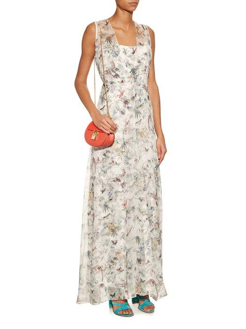 Cuban floral print silk-chiffon gown by Adam Lippes