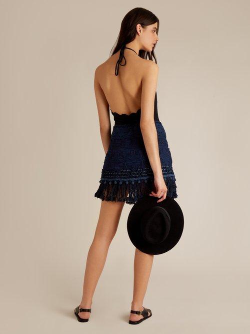 Careyes Natalie crochet mini skirt by Vmt