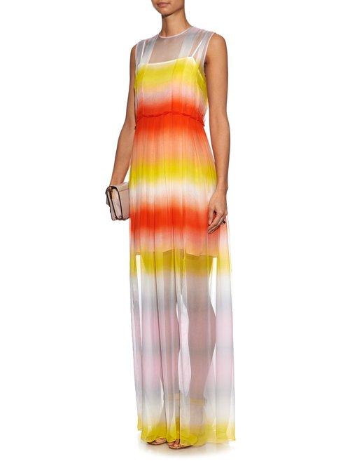 Shop Jonathan Saunders Devana silk-crepe maxi dress online sale
