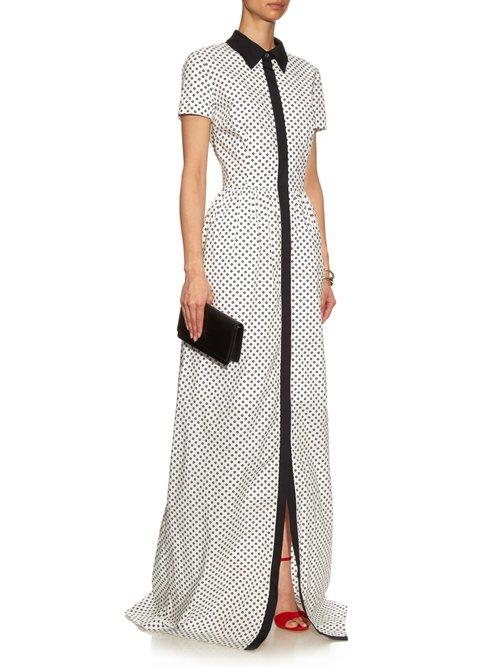 Daisy polka-dot print gown by Oscar De La Renta