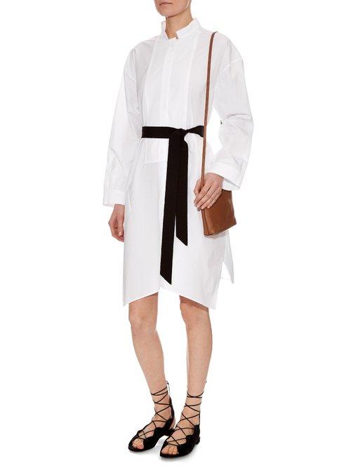 Mandarin collar cotton-poplin dress by Maison Rabih Kayrouz