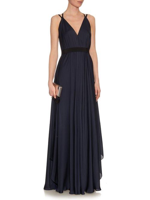 Zip-through charmeuse dress by Maison Rabih Kayrouz