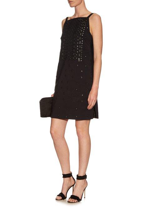 Embellished square-neck dress by Osman
