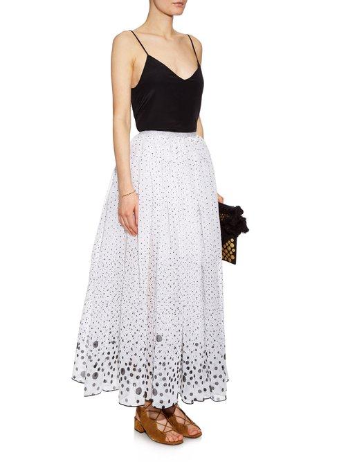 Grisette polka-dot midi skirt by Thierry Colson