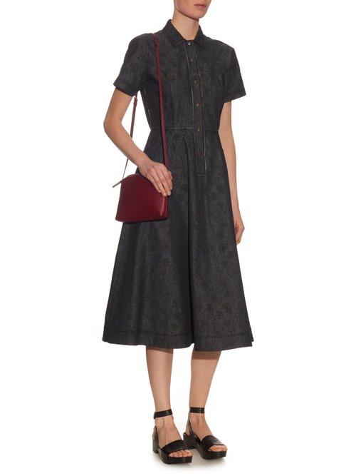 Meadow-print button-through dress by Tomas Maier