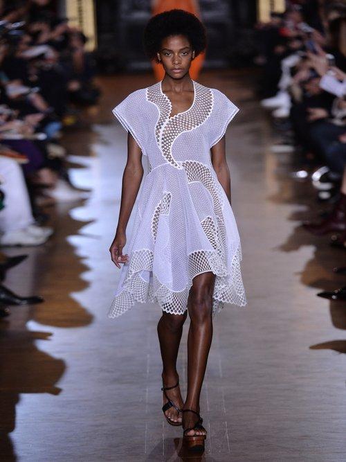 Clotilde short-sleeved embroidered dress by Stella Mccartney