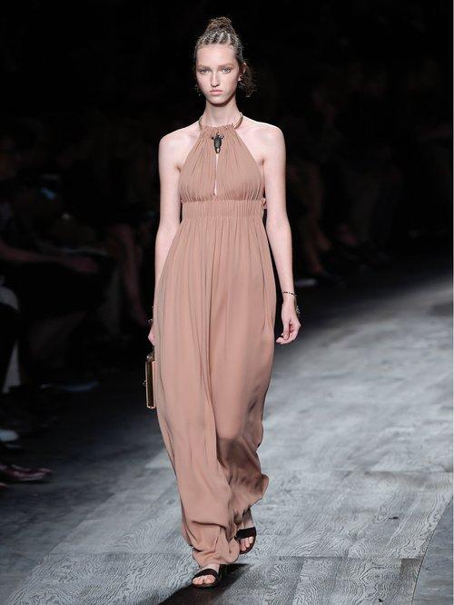 Halterneck silk-crepe gown by Valentino