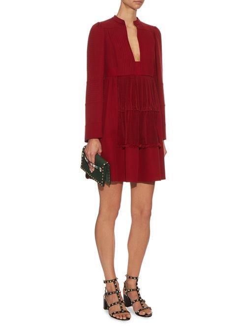 Open neck silk-georgette dress by Valentino