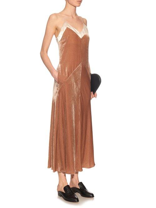 Velvet slip dress by Hillier Bartley