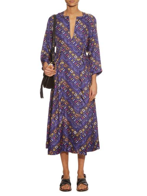 Tizy printed silk midi dress by Isabel Marant