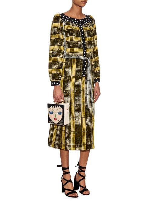 Harlem Deco-print crepe dress by Duro Olowu