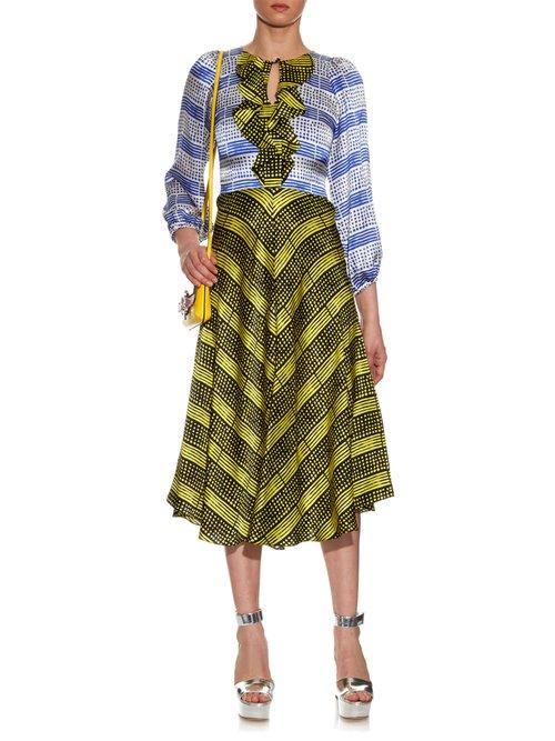 Harlem Deco-print silk dress by Duro Olowu