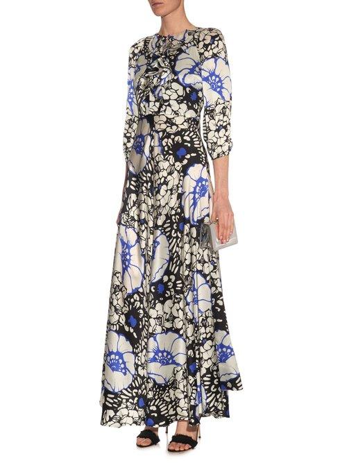 Zanzibar Flower print silk-satin dress by Duro Olowu