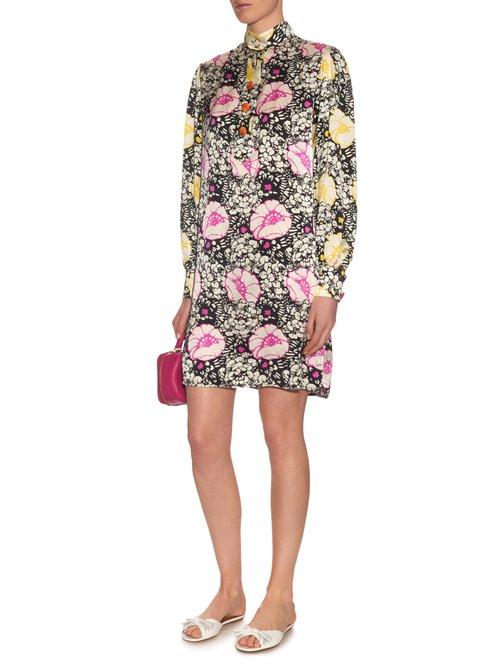 Zanzibar Flower-print silk dress by Duro Olowu