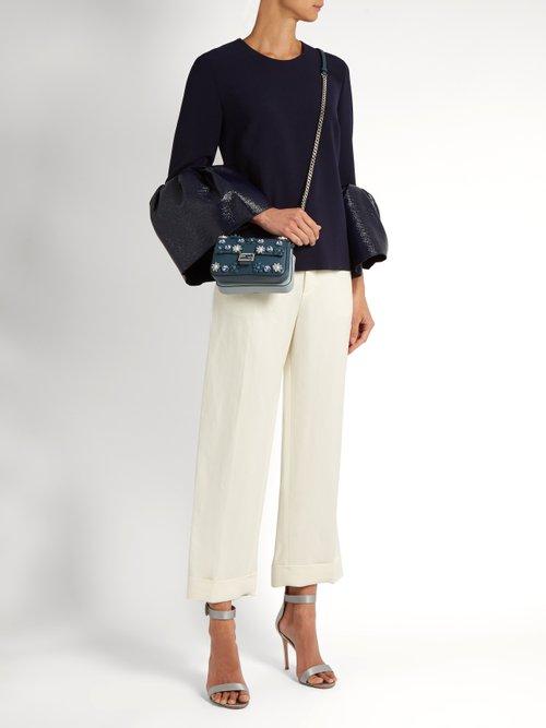 Double Micro Baguette Flowerland cross-body bag by Fendi