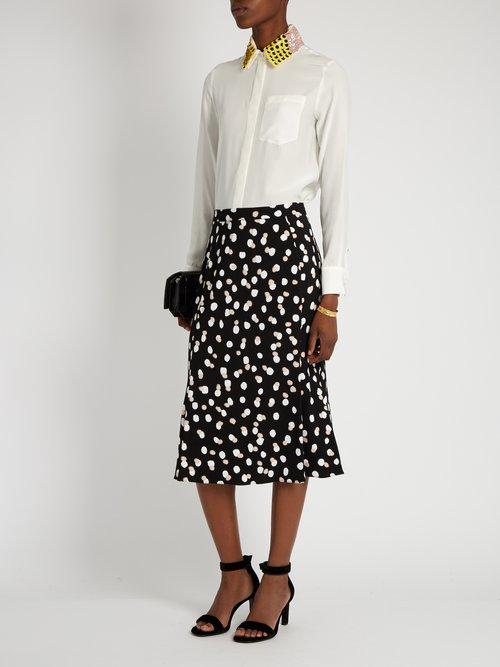 Chica detachable-collar long-sleeved shirt by Altuzarra