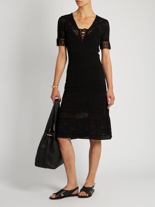 Trevi V-neck eyelet-knit dress by A.L.C.