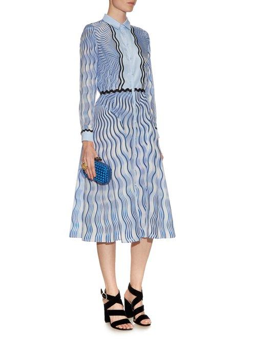 Silcott Snuffbox-print silk and cotton-blend dress by Mary Katrantzou