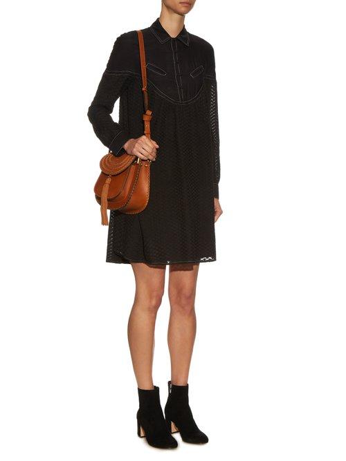 Feliz long-sleeved cotton and silk-blend dress by Cecilie Copenhagen