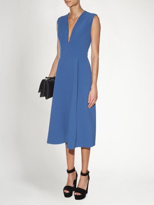Bocciolo V-neck midi dress by Jil Sander