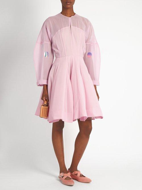Structured silk-chiffon dress by Natasha Zinko