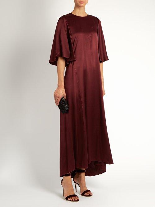 Louis silk-satin dress by Ellery