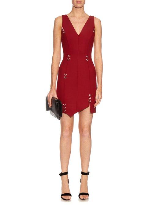 Asymmetric hem wool-blend dress by Mugler