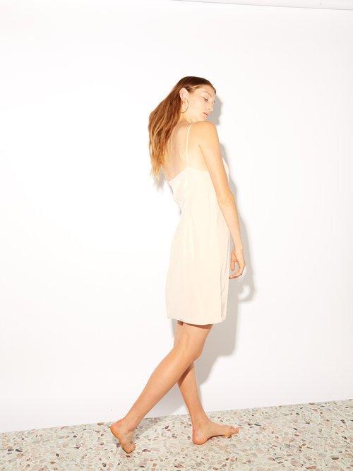 Deep V Silk Slip Dress by Raey