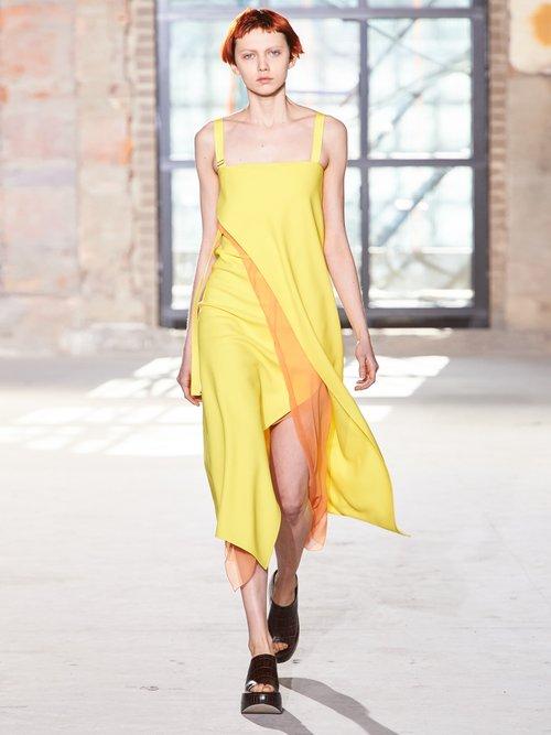 Asymmetric-fold double-crepe dress by Sies Marjan
