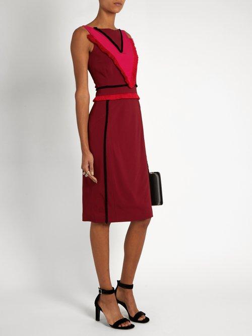 Caulfield fringed-trim cady midi dress by Altuzarra