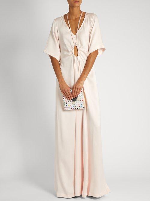 Tie-neck silk-faille gown by Rosie Assoulin