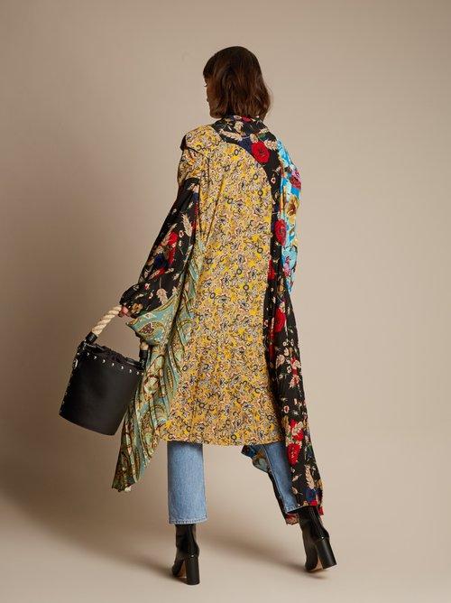 Projection patchwork midi dress by Balenciaga