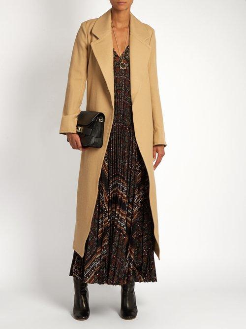 Katia scarf-print pleated dress by A.L.C.