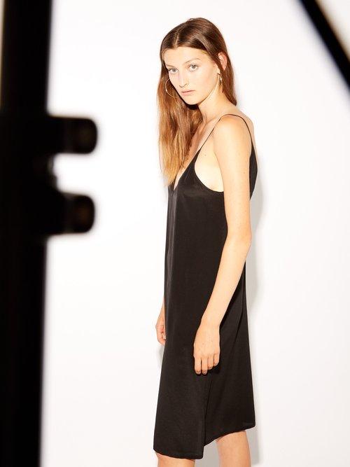 V Neck Silk Slip Dress by Raey
