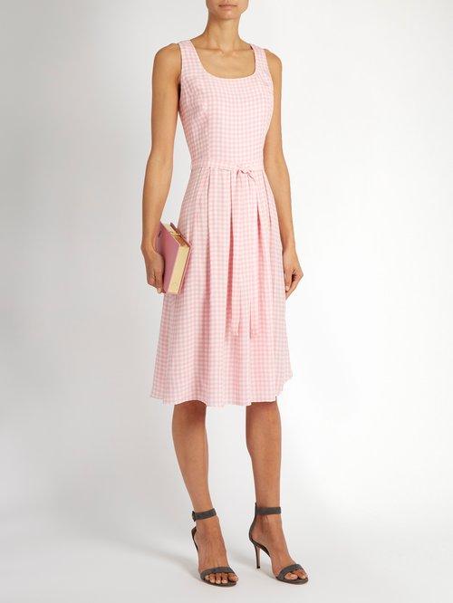 Jordan gingham sleeveless dress by Hvn