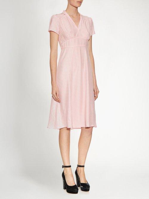 Morgan gingham short-sleeved dress by Hvn