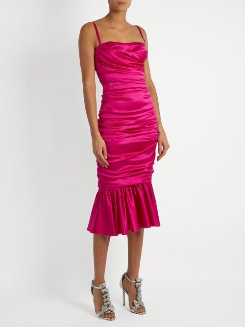 Ruched stretch-silk dress by Dolce & Gabbana