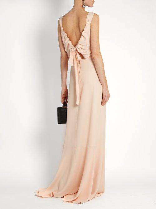 Open tie-back gown by Rochas