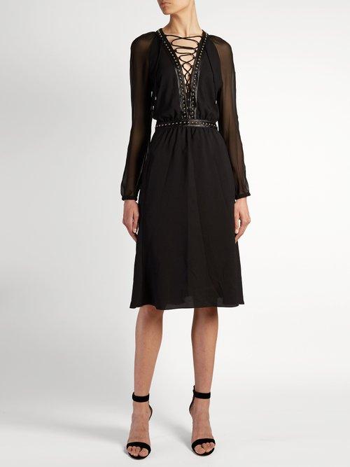 Millows lace-up stud-embellished dress by Altuzarra