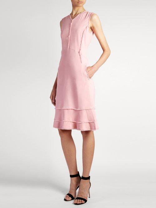 Doe frayed-edge crepe dress by Altuzarra