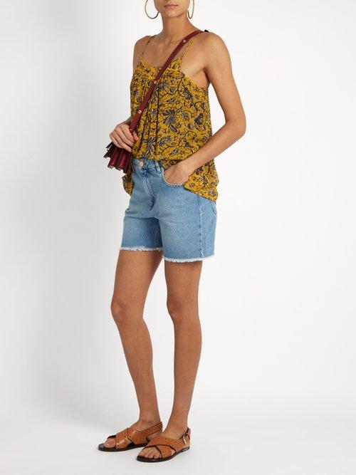 Bronson floral-print silk-chiffon top by