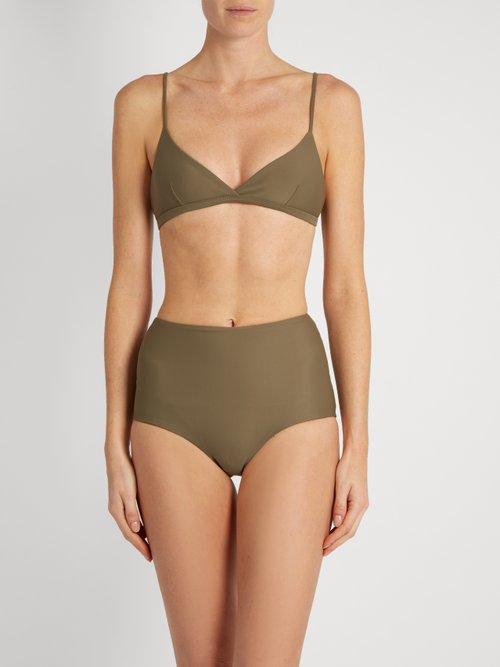 The Tri Crop bikini top by Matteau