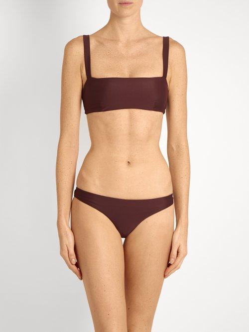 The Square Crop bikini top by Matteau