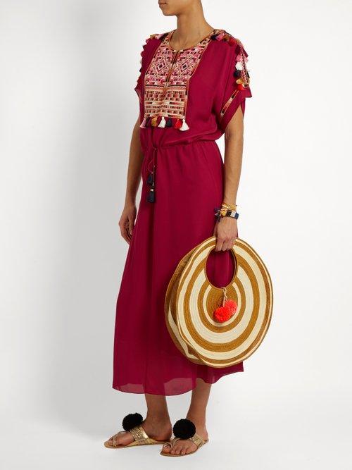 Naya Embroidered Silk Georgette Dress by Figue